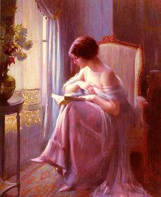 Female Portrait, Female Art, Books To Read For Women, Woman Reading, Quiet Moments, Gustav Klimt, Book Reader, Aesthetic Art, Van Gogh