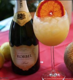 A summery brunch sipper! Tangerine Screwdriver: Shake 1oz Tangerine Vodka and 2oz Orange Juice with ice. Strain. Top with 4oz KORBEL. Sip over brunch with friends.