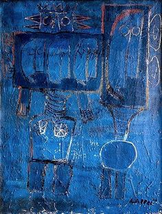 karel appel, great study in blue (confusing)