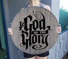 Rustic Wall Decor To God be The Glory Man Cave Sign Barnwood Gray Wall Man Cave Wall Decor, Grey Wall Decor, Rustic Wall Decor, Rustic Walls, Whiskey Barrel Bar, Unusual Gifts For Men, Birthday Quotes, 40th Birthday, Birthday Gifts