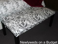Saw this on ikeahackers.com, but it is originally from newlywedsonabudget.com.  I'm an ottoman enthusiast.