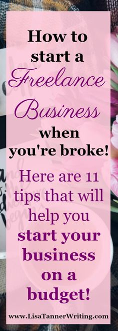 How to start a business on a budget! #startablog #workfromhome