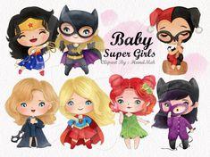 Clipart Chica, Disney Princess Set, Baby Girl Clipart, Dc Comics Women, Wonder Woman Party, Superhero Classroom, Bailey May, Girls Clips, Hero Girl