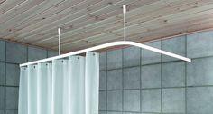 1000 id es sur le th me rideaux d 39 angle sur pinterest for Barre de rideau de douche d angle