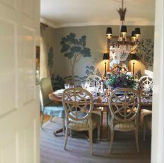 NINE + SIXTEEN: Dining Room Design Plan   Scenic Wallpaper