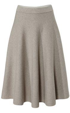 Designer Clothes, Shoes & Bags for Women Skater Skirt, Dress Skirt, Iris Von Arnim, Gray Skirt, Smart Casual, Rock, Flare Skirt, Mini Skirts, My Style