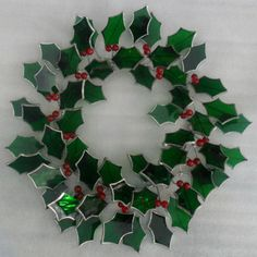 Free Stained Glass Holly And Ribbon Pattern – Holiday Patterns – Delphi Glass ...the wire and resin how to on my Jewelry Making board would work for this sort of look, if u are not into stained glass. Just say it was their  stained glass pattern if anyone asks, in return :) for the idea.....