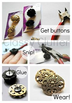 DIY earrings out of buttons