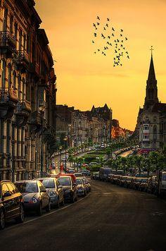 Sunset, Brussels, Belgium  photo via besttravelphotos