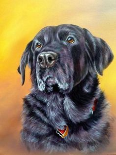 how to paint dog acrylics finished painting ... BTW, check out some cool art here http://jeremy-aiyadurai.pixels.com/