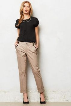 Piped trousers