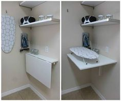 Ironing Nook | 10 IKEA Laundry Room Ideas For Small Living Spaces