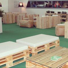 Arredamento green grazie ai pallet 800x1200 ecodesign di Conlegno