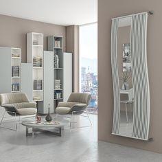 Radiatore design con inserto in specchio Doppiolinea Mirrorstyle