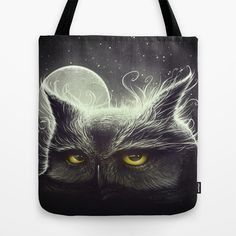 Owl & The Moon Tote Bag by Dr. Lukas Brezak - $22.00