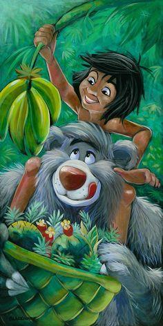 Mowgli & Baloo art by Brian Blackmore
