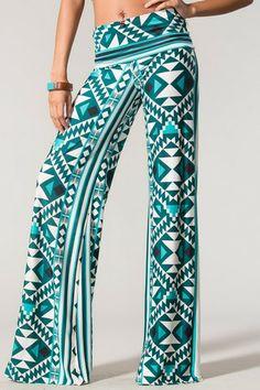 Jade Aztec Pants