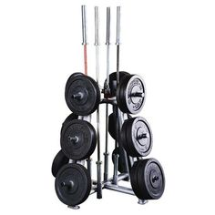 Body-Solid's SWT1000 Weight Tree is designed to fit all sizes of olympic plates & bars and is perfect for any size facility or workout space. #bodysolid #builtforlife #weights #weight #weighttree #olympic #olympics #olympicbar #olympicbars #bar #bars #lifting #weightlifting #fitness #fitfam