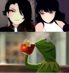 Cinder Fall and Blake Belladonna look a lot alike. But that's none of my business.