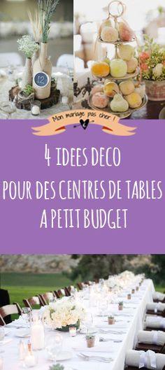 Comment décorer joliment une table lorsqu'on a un petit budget. 4 idées sympas, jolies et faciles à réaliser avec un petit budget.
