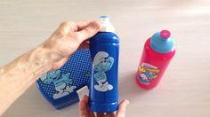 Madkasser og drikkedunke med smølferne