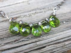 Hey, I found this really awesome Etsy listing at https://www.etsy.com/listing/191823651/gemstone-green-peridot-sparkle-necklace
