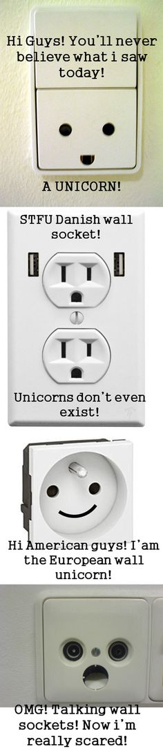 If wall sockets could talk, this is what they might say.