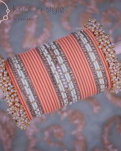Indian Bridal Jewelry Sets, Bridal Bangles, Wedding Jewelry, Fancy Jewellery, Stylish Jewelry, Thread Bangles Design, Jewelry Design Earrings, Bangle Set, Bridal Chura