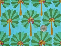 Palm Fan - Fabric By The Yard