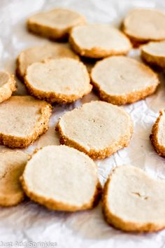 Vanilla Bean Shortbread Cookies are the perfect sweet you need when you want something sweet but not over the top indulgent. They're the perfect cookie to accompany your cup of coffee or tea. #justaddsprinkles #cookies #vanillabean #shortbread