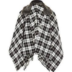 f3b4864e893f Girls black and white check cape £18  riverisland  RIkidswear Emma Rose
