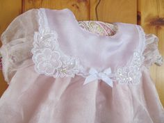 2 Pc Chiffon Pink Baby Girl Outfit by ReVintageBoutique on Etsy, $18.00