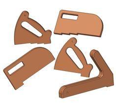 Pegas para operar com serras e lâminas - Push stick and push block plans | Jig, clamp and fixture plans