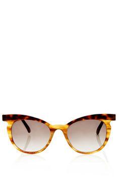 Two-Tone Cat Eye Sunglasses by Marni - Moda Operandi