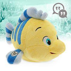 Disney Animators' Collection Interactive Flounder Plush - 10''