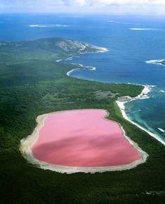 Lago Hillier, Australia.