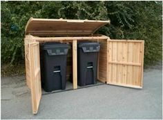 Outdoor Living Today | 6x3 Oscar Trash Can Storage Shed OSCAR63