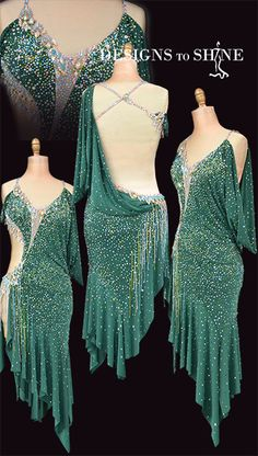latin-dancewear-forest-sparkle-L18047