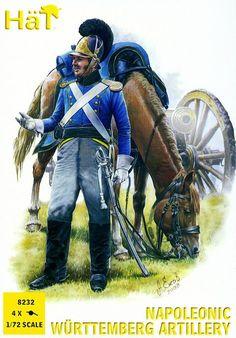 Napoleonic Austrian Artillery 1:72 Plastic Figures by HaT