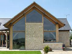 Field Farm – Case studies – Portfolio – Carpenter Oak & Woodland Bungalow Extensions, Oak Frame House, Extension Ideas, Cladding, Carpenter, Case Study, Modern Architecture, Beams, Woodland