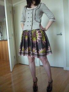 Border print pleated skirt - mccalls 5803