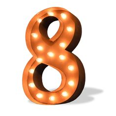 8 Eight Number Marquee Light from The Rusty Marquee
