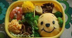Comida faz sorrir com personagens infantis americanos, como o Ursinho Pooh feito de omelete