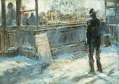 All Night Cafe, ca 1900, Everett Shinn. American Ashcan School Painter (1876 - 1953)