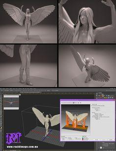 The Woman 3D Statue by ROALDIMAGE
