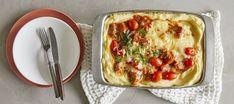 Uunimakkaravuoka   Pääruoat   Reseptit – K-Ruoka Vegetable Pizza, Quiche, Dinner, Vegetables, Breakfast, Foods, Dining, Morning Coffee, Food Food