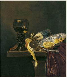 Голландский художник Ян Янс Ван де Вельде (ок.1620-1662). Натюрморт