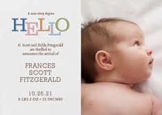 Storybook Hello by Paperless Post. Design custom photo birth announcements with our easy-to-use design tools. Available online and on paper. View other baby announcements on paperlesspost.com.