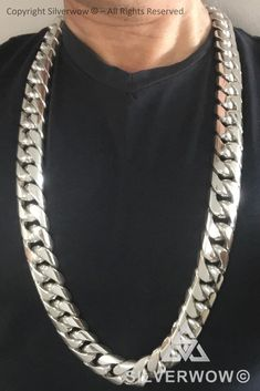 Silver Chain For Men, Mens Silver Jewelry, Mens Silver Necklace, Chains For Men, Men Necklace, Fashion Necklace, Silver Ring, Neck Chain, Cuban