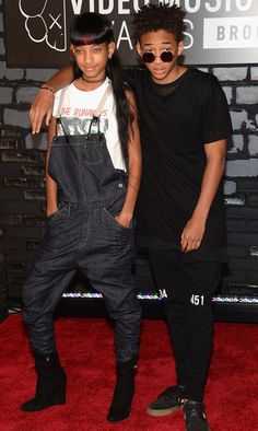 Willow Smith and Jaden Smith at 2013 MTV Video Music Awards